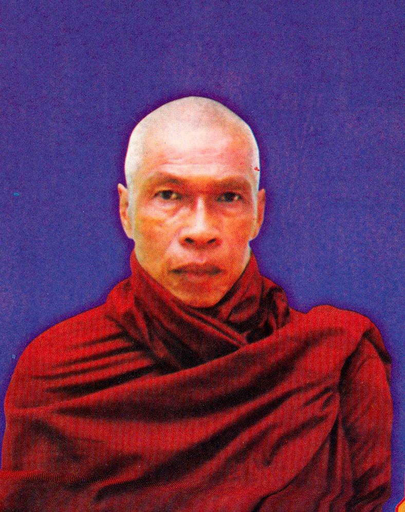 Sayadaw U Nandobhasa, Sayadaw U Jotika's ordination teacher, of Okan Tawya Monastery in Monywa, where Sayadaw had lived since he was 12 years old.