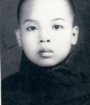 Sayadaw U Jotika, at 13 years old, one year after ordinating as a novice monk