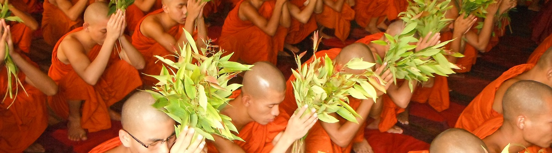450 Monks and Novices Undertaking Precepts for Vassa Rainy Season